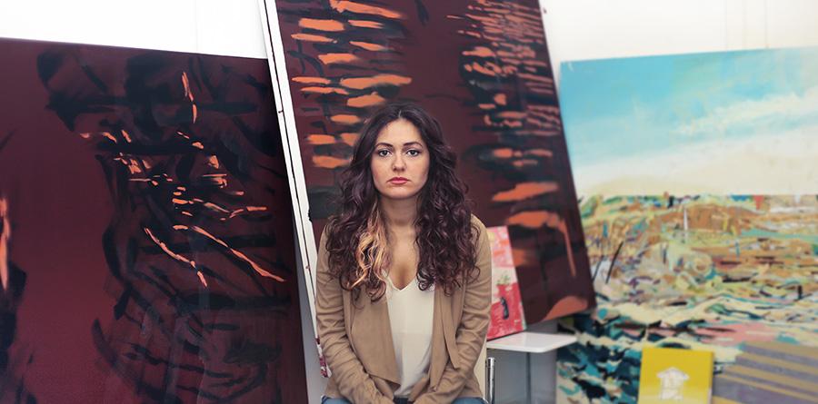 res_artist in her studio_gorkem dikel