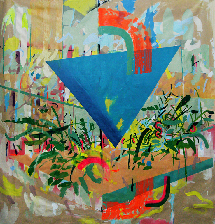 Suspicious Triangle_170 x 165 cm -Acrylic on canvas